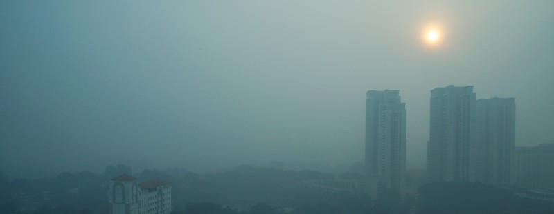 2015 Sep 25 morning, dense haze caused by PM2.5 pollution